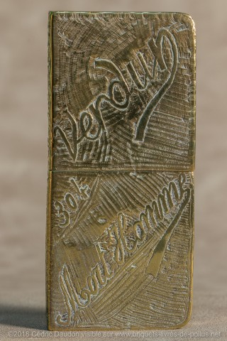 Verdun Mort Homme et cote 304 sur le même briquet
